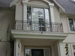 exteriors classic ornate iron black balcony railing fence large