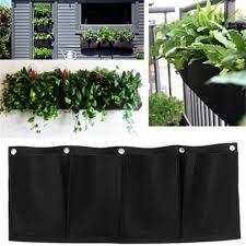 indoor wall planters novelty 7 pockets vertical garden planter