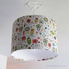 Diy Drum Pendant Light by Decor Winsome White Garden Birds Small Lampshade Voyage Maison