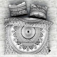 indian black ombre mandala duvet cover comforter doona cover