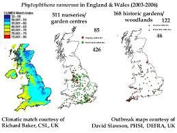Gardening Zones Uk - the landscape pathology and network epidemiology of phytophthora ramo u2026
