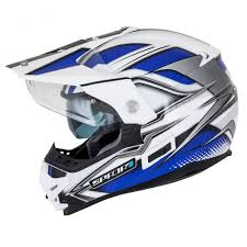 blue motocross helmet spada intrepid mirage white blue black helmet kent motocross t