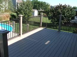 deck railings deck railing systems wood composite metal