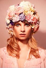 flower headpiece hot fashion trend big bold floral headpieces grower direct