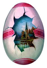 victorian easter clip art 2 egg shaped cards the graphics fairy