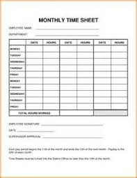 Free Timesheet Template Excel Basic Monthly Timesheet Template Excel Exle Resume Template