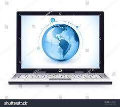 https www stylish stylish laptop on white background base stock vector 76459591