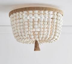 wood bead ceiling light white wood beads pendant