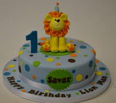 Cake Decoration At Home Birthday First Birthday Lion Cake Home U003e Cake Gallery U003e Baby U003e 1st
