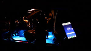 app controlled car lights 2016 new changeful color car led interior atmosphere light music