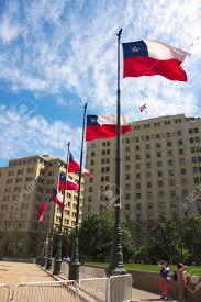 Chile Santiago Flag Santiago De Chile Presidential Palace Vi Stock Photo Picture