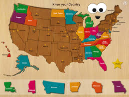 Usa Map With States And Capitals by Wood Puzzle Usa Map Bestappsforkids Com