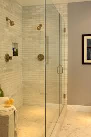 elegant master bathroom ideas mosaic tile shower designs copper