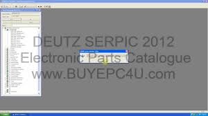 deuts serpic 2012 spare parts catalog youtube