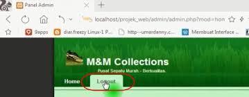 membuat login dengan php di dreamweaver cara membuat tombol logout di halaman admin web penjualan dengan php