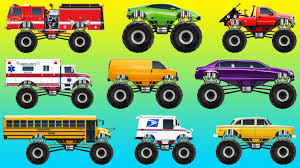 monster truck grave digger videos patrol s monster truck videos toys grave digger u samson with