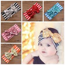 hair bands for babies baby big sequins bow headbands for kids christmas hair bows