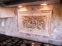 kitchen backsplash medallions decorative tile inserts kitchen backsplash besto intended for