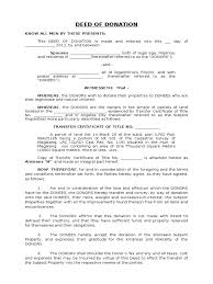 deed of donation format deed natural resources law