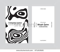 Business Card With Bleed Template Double Sided Business Card Trendy Stock Vector 628046642