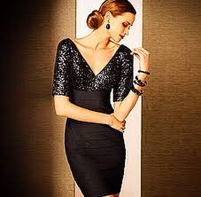 black necklace dress images What sort of necklace would look good with a black cocktail dress