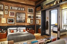 bedroom home apartment cozy bedroom exposed brick bedroom design