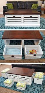 Diy Storage Ottoman Plans Crate Storage Coffee Table And Stools Crate Storage Free