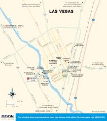Downtown Las Vegas Map by Printable Travel Maps Of New Mexico Moon Travel Guides