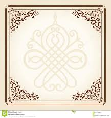 vintage floral frame ornament stock photos image 17973983