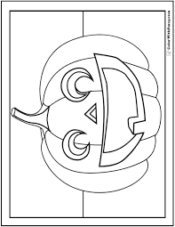 100 ideas halloween jack o lantern coloring pages on