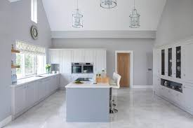 White Grey Kitchen Classic Style Inframe Painted White And Grey Kitchen Tipperary