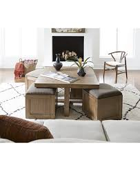 Cube Coffee Tables Chagne Cube Coffee Table With 4 Storage Ottomans Created For