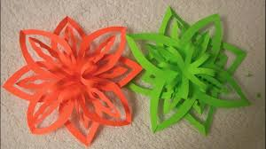 diy easy paper ornament snowflake design 2