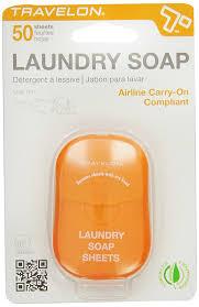 amazon com travelon laundry soap sheets 50 count health