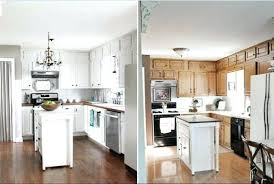 painting cabinets white before and after paint kitchen cabinets before and after faced