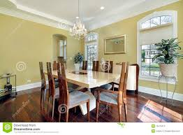 dining room with yellow walls stock photography image 16476472