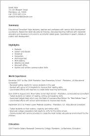 Example Of A Well Written Resume by Professional Educational Consultant Templates To Showcase Your