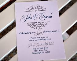 vow renewal invitations vow renewal invitation anniversary party celebrating our all