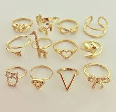 v shaped ring ebay silver gold or gold diamond shaped stacking ring ebay
