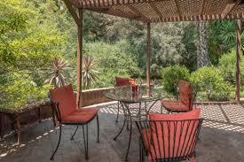 Outdoor Sitting Area Woodsy Midcentury Home In Los Feliz Asks 1 7m Curbed La