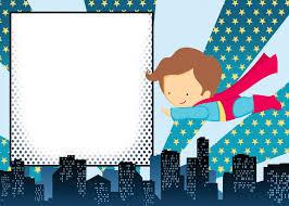 Blank Invitations 12 Free Printable Blank Superhero Birthday Invitation Template
