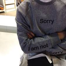 shirt blouse sorry top sorrynotsorry sweater grey quote on
