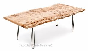 Slab Dining Table by Live Edge Slab Dining Table With Hair Pin Legs Asymmetrical