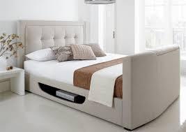 Tv Bed Frames Kaydian Bowburn Upholstered Tv Bed Oatmeal Fabric Kaydian