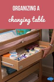Brown Changing Table Organizing A Changing Table Cloudmom