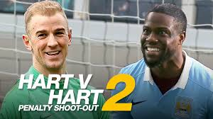 kevin hart kevin hart v joe hart penalty shoot out part 2 youtube