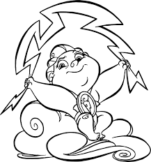 thunder baby hercules coloring pages wecoloringpage
