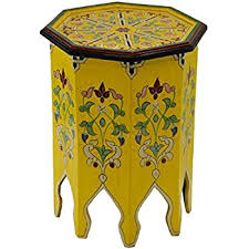 amazon com moroccan handmade and hand painted wood table unique