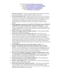 Oracle Dba Sample Resume For 2 Years Experience by 153 Oracle Dba Interview Questions