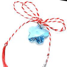 pandantiv cristal martisor pandantiv blue flower cristal swarovski